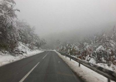 Bosnisches-Gebirge-Schnee