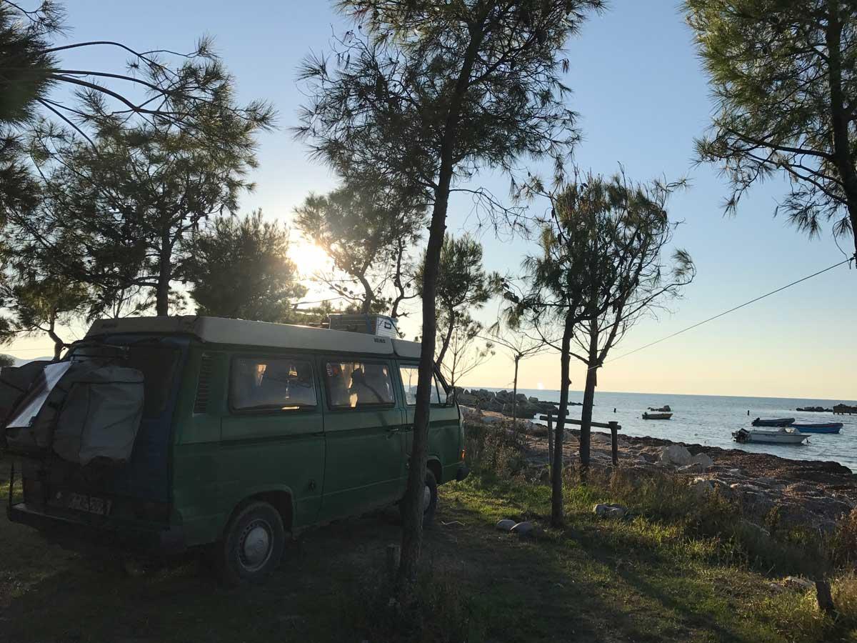 Camping Pa Emer - Off Season, wir haben den Strand für uns..