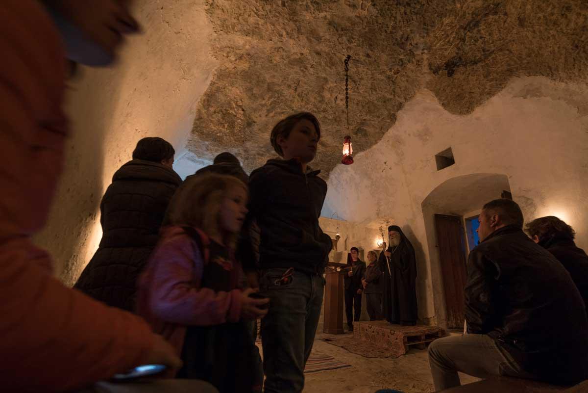 In der Agia Spyliotissa Cave Church, Mitata, Kythera. (Foto Ulrich Weinert)
