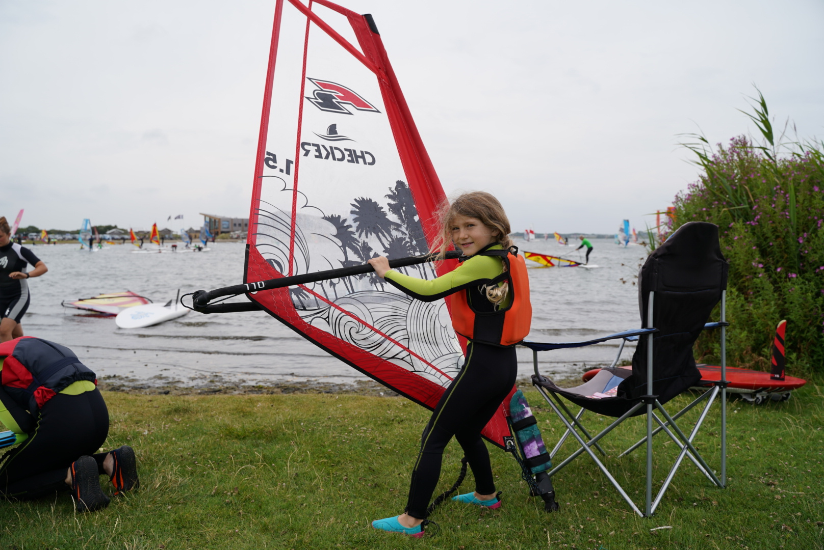 Sommerferien 2019. Windsurfen am Brouwersdam in den Niederlanden – Grevelingermeer. Wunderbar. Keine wollte mehr weg...