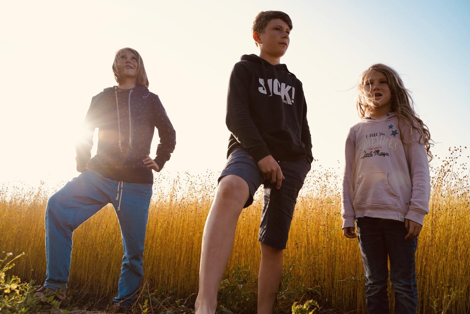 Aus Kindern werden Leute. Paul auf dem Bild gerade noch 13, Fannie 12 und Liv noch 6.